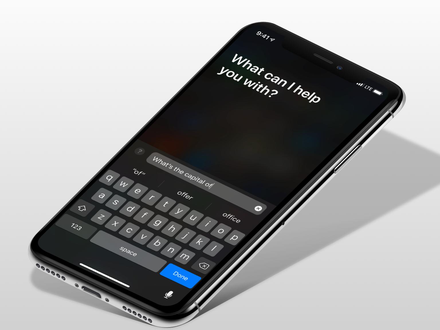 Type to Siri in iOS 11
